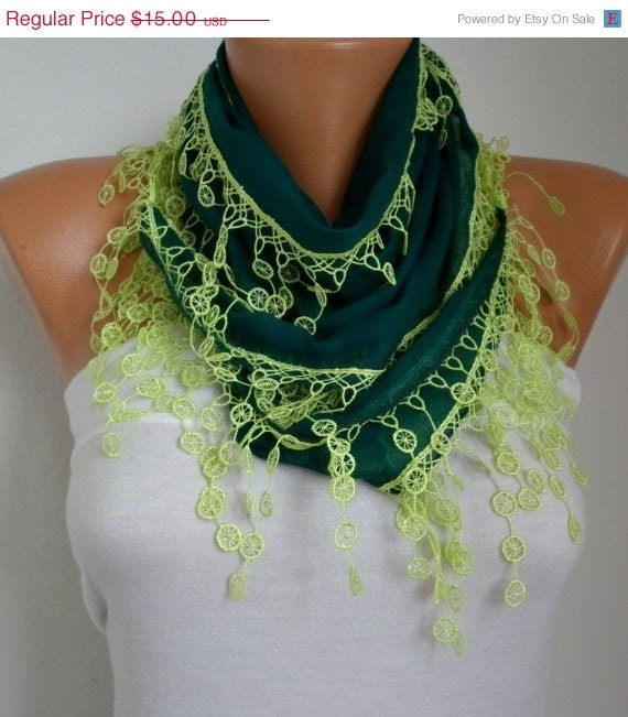St Patrick 39 S Day Emerald Green Scarf Spring Neon By Fatwoman