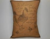 Psalm 91 Burlap Pillow, Refuge in the Lord, Farmhouse Pillows, INSERT INCLUDED