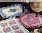 Flowers at Your Feet - Instructions for 3 Fabric Strip Rugs To Crochet