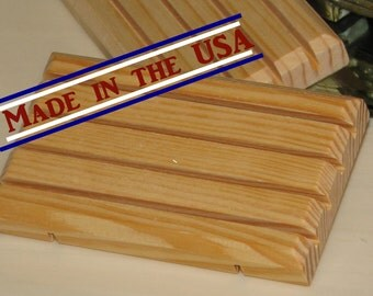 BULK 25 Pine Soap SAVER DISHES (Made in U.S.A.) All Natural Wood Soap Dish