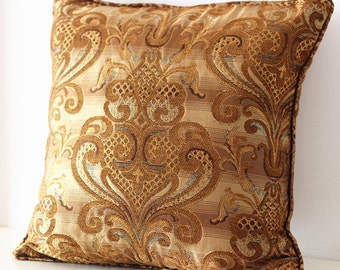 Decorative Floral Pillow Cover -coffee Lattice pattern Pillow - Throw Pillow - European chenille jacquard sofa pillow modern pillow 17