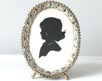 Vintage Gold Filigree Frame, Standing Frame, Vintage Silhouette