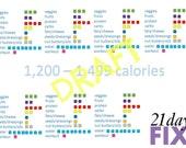 21day FIX Tally  Sheet 1200 1499