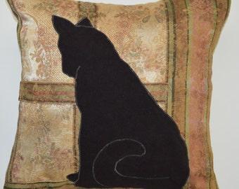Cat in Window Pillow