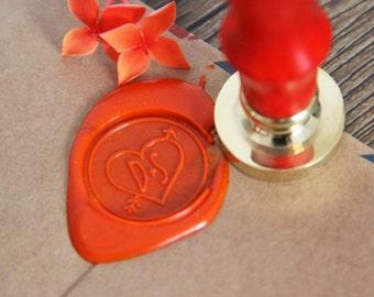 Personalized  Wax Seal Custom wedding wax stamp with Heart & Arrow wedding invitation seals
