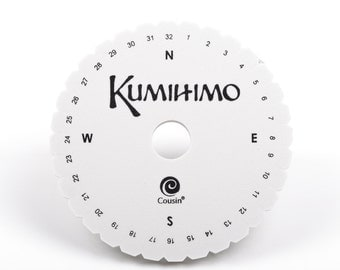 """6"""" KUMIHIMO DISC for jewelry braiding, includes full instructions with photos tol0389"""