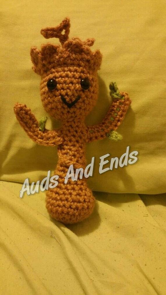 Amigurumi Groot Patron : Baby groot inspired amigurumi