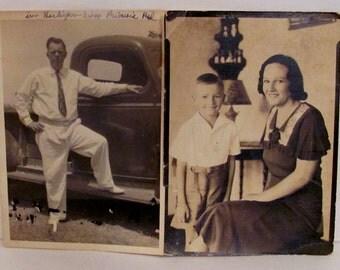 """Two 5""""x 7"""" Vintage Family Photos"""
