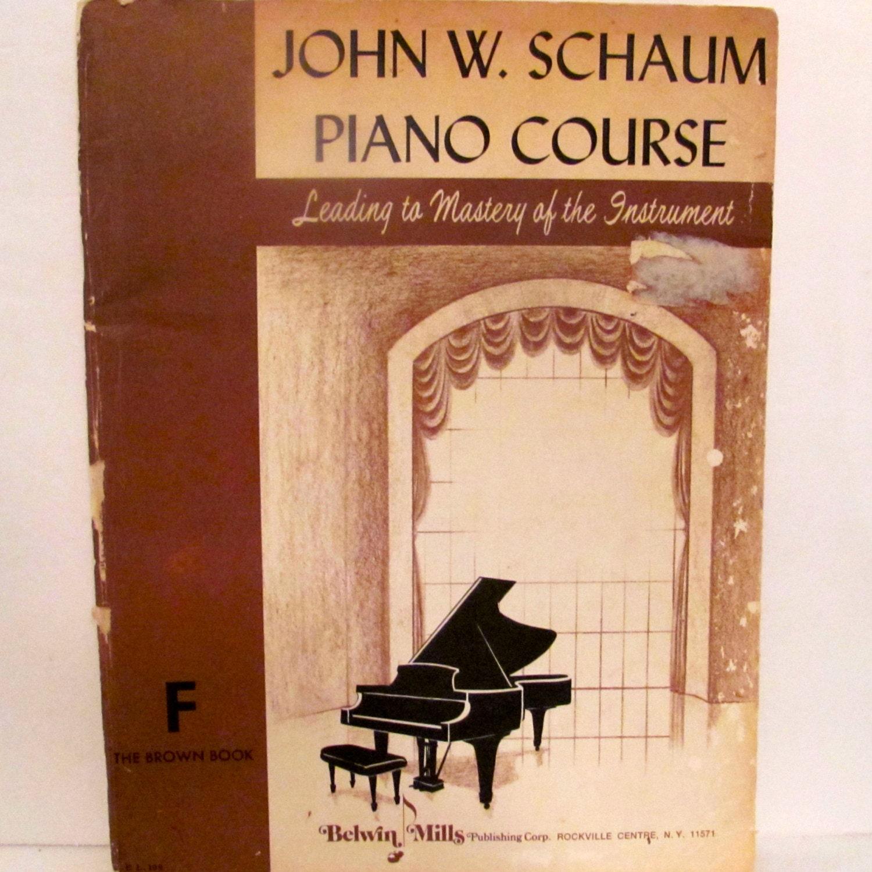 1 adult book course john piano schaum w