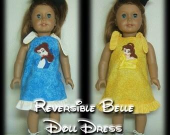 Custom AG Doll Reversible Princess Mouse Character Dress-M2M Girls Dress