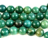 Moss Agate Round 8mm -15.5 inch strand