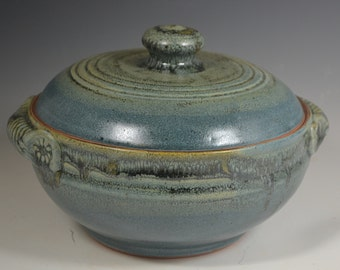 Lidded Baking Casserole, pottery casserole, pottery dish, baking dish, handmade pottery