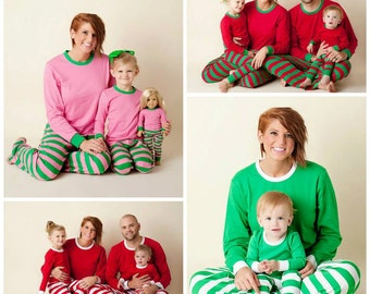Personalized Christmas Pajamas PREORDER through AUGUST 4-Your choice of applique and personalization