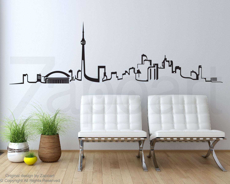 toronto skyline wall vinyl decal. Black Bedroom Furniture Sets. Home Design Ideas