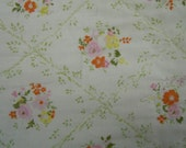 Reserve for Roxie vintage Quilt: whole cloth floral quilt hand quilted from the estate of AAGPBL player Jaynie Krick