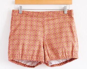 SALE High Rise Beach Bloomers, Tropical Island Resort Shorts, Tiki Surf Print Shorts, Women's Bloomers