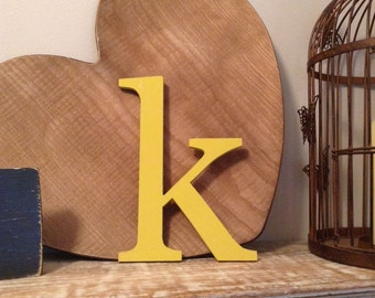 """Stock Clearance - Sold As Is - Wooden Letters - Letter k - 7.5"""""""