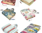 6 Fabric Choices, Large Bible Cover, Made to Order, Choice of Fabrics, Handles or Button and Loop fastening