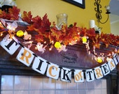 Trick or Treat  Banner/ Halloween Decorations / Halloween banner / Halloween Party / Table Decor / Halloween Photo Pro/ Vintage Inspired