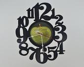 Vinyl Record Wall Clock Hanging (artist is Paul & Linda McCartney)