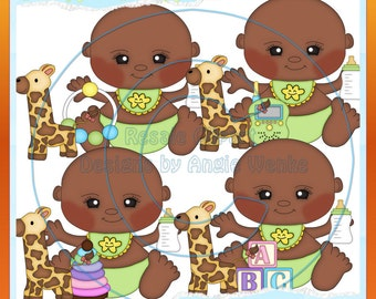 Bundle of Joy Baby Boys 2 Clipart (Digital Download)