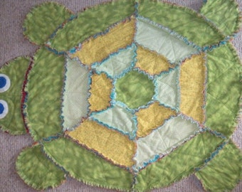 Made To Order Britney or Benji The Butterfly Rag Quilt : turtle rag quilt - Adamdwight.com