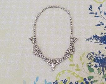 1950s Vintage Rhinestone Necklace...Vintage Bride...Vintage Wedding...Special Occasion