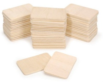 Natural Unfinished Rectangle Wood Blanks 250 pieces