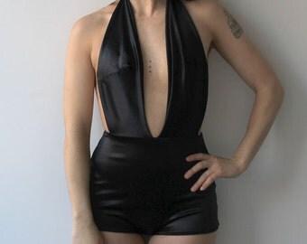 """New 2015 One piece """"Deidre"""" low cut Cabaret style bathing suit"""