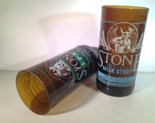 Stone IPA and Coffee Milk Stout Recycled Glasses