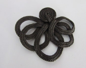 Vintage 3 Matching  Brown  Decorative Cord Pieces, Cord Frogs, Brown Lace
