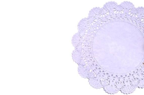 Lilac colored lace paper doilies  Cambridge Tea party doilies ...