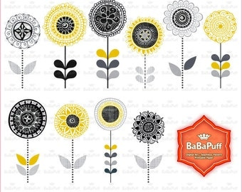 Instant Downloads, Digital Flowers Clip Art. Personal and Small Commercial Use. BP 0953