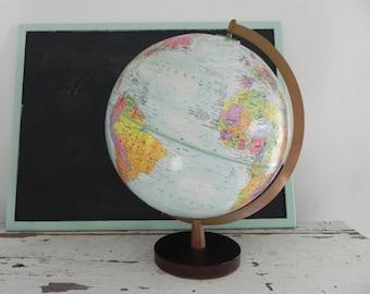 Mid Century Globemaster Legend 12 inch Blue Ocean World Globe