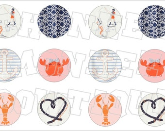 Made to Match Gymboree M2MG Cute on the Coast bottlecap image sheet
