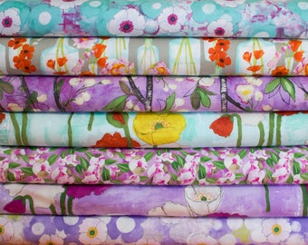 Vignette #2 by Michael Miller Fabric Bundle -  Half Yard Bundle - 7 Half Yard pieces (B334)