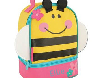 Personalized Girls Lunch Box Bag Stephen Joseph Lunch Pals in Bee