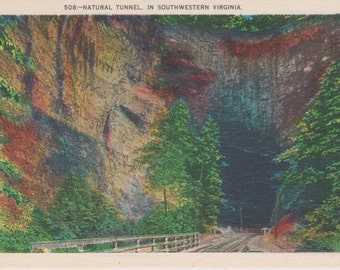 Virginia, Natural Tunnel - Vintage Postcard - Postcard - Unused (II)