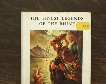 Vintage book of mythology The Finest Legends of the Rhine little book by Wilhelm Ruland