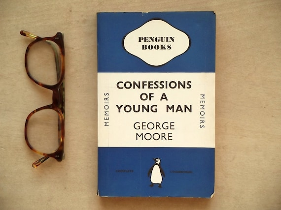 Vintage 1930s penguin books memoirs Confessions of a Young Man by George Moore