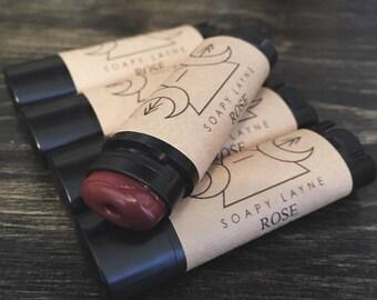 ROSE, tinted lip balm- vegan + cruelty-free