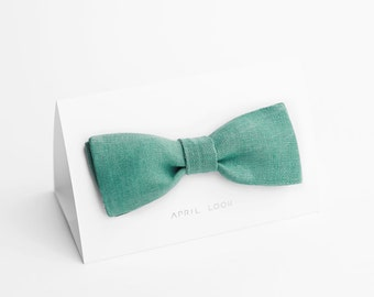 Mint green bow tie - double sided