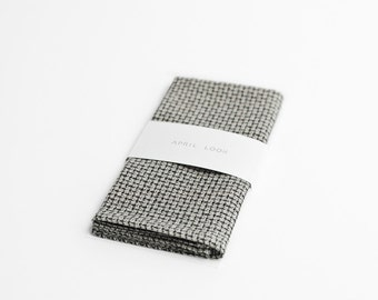 Handkerchief, grey pocket square, MADE TO ORDER