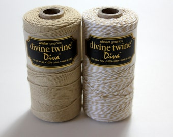 CLOSEOUT - Baker's Twine - Wheat Diva Stripe Divine Twine - Full Spool - 240 yards