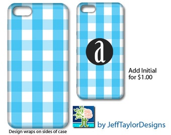 Gingham Phone Case for iPhone 5/5s, iPhone 6, iPhone 7. Galaxy s4 & s5