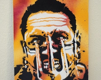 Mad Max Fury Road Multilayer Graffiti Stencil Art on Canvas Board 8x10