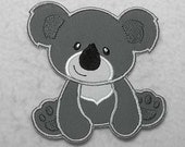 Koala Bear - MADE to ORDER - Choose COLOR and Size - Tutu & Shirt Supplies - Iron on Applique Patch 7240