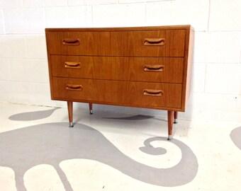 mid century teak dresser by G Plan with three drawers