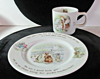 Beatrix Potter, Tiggy Winkle Cup and Plate, Wedgwood Dinnerware, Made in England, Frederick Warne & Co., Serving