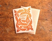 """Set of Six Foil Stamped """"Thank You"""" Cards"""